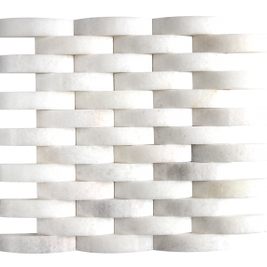 KR1362 Hüsna White 23 * 100mm fehér márvány