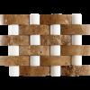 KR1370 Peri Mix 48 * 150mm Nicole Ceviz Traverten - 48 * 48mm fehér márvány