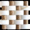 KR1426 Nicole White & Ceviz 48 * 100mm fehér márvány - 48 * 48mm Nicole Ceviz travertin Egységcsomagban 0,52 ㎡