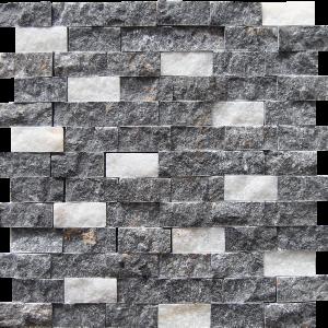 KR1903 Nuh 23 * 48 mm fekete-fehér márványkeverék Egységcsomagban 0,53 ㎡