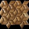 KR1355 Isik 4.8x4.8cm Dió Travertin Egységcsomagban 0,628 ㎡